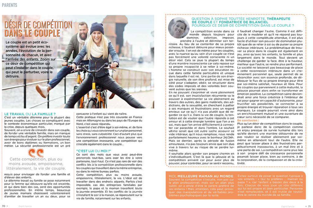 Interview Sophie Touttee Henrotte - Esprit Bebe - Avril 2021